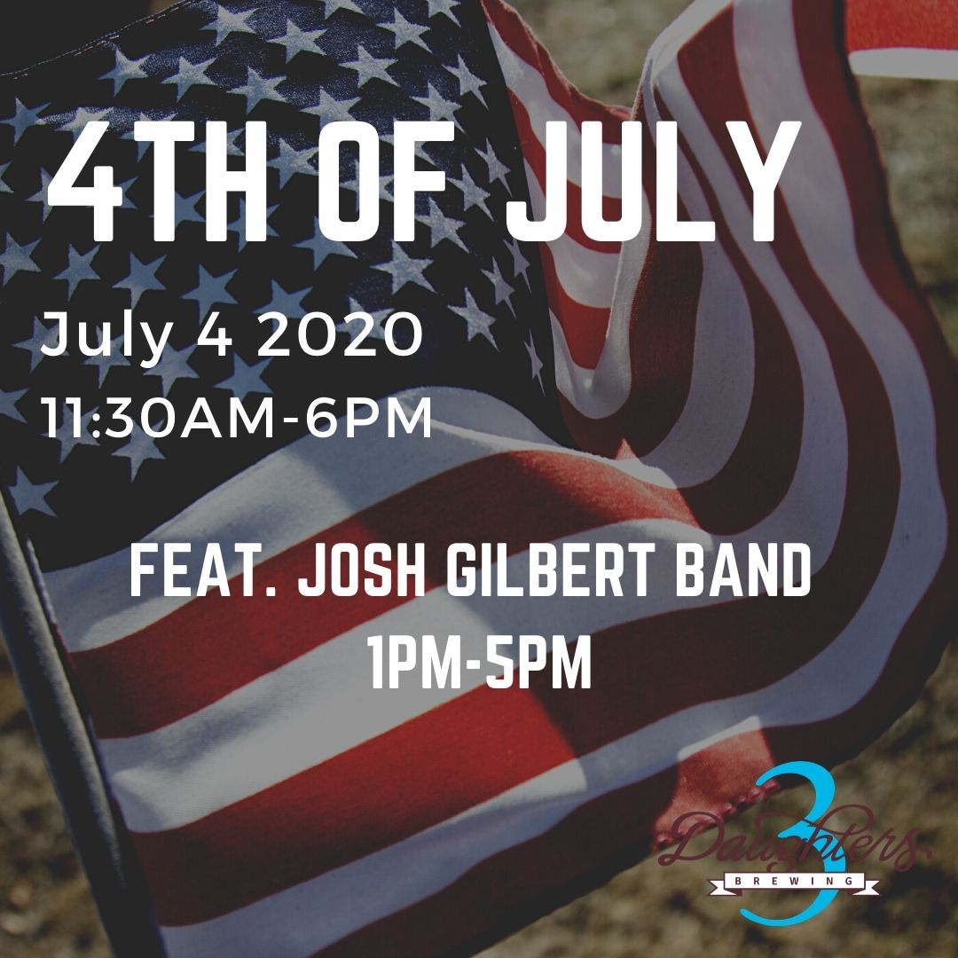 4th of July at 3 Daughters Brewing