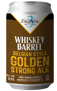 WHISKEY BARREL BELGIAN STYLE GOLDEN STRONG ALE