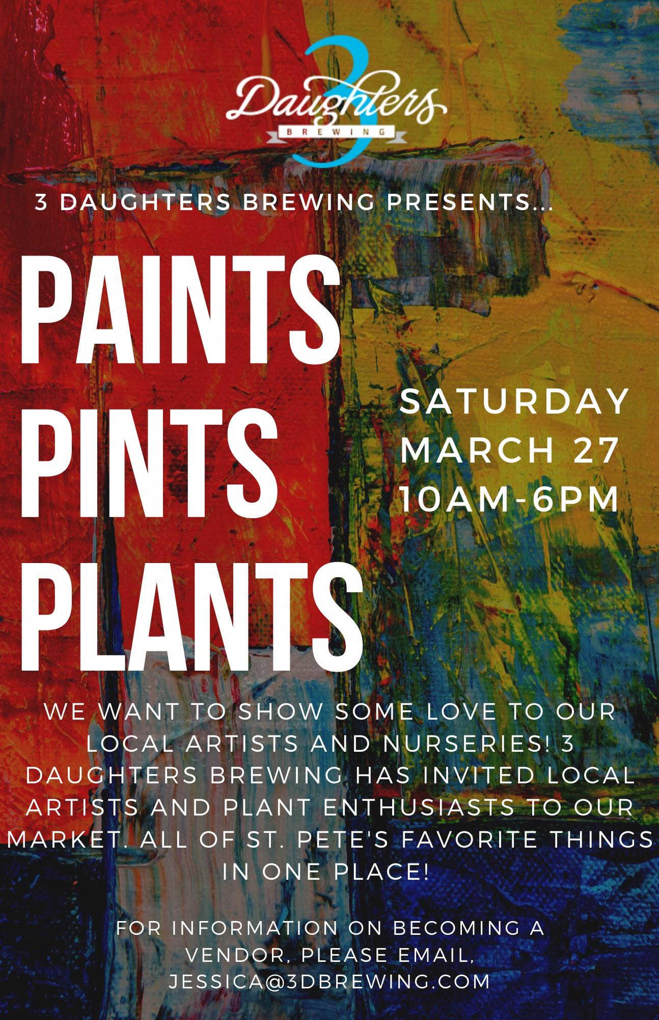 Paints, Pints & Plants Market